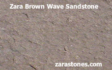 Zara Brown Wave Wall Coping Stones